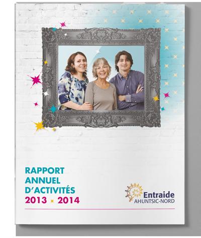 Rapport annuel d'activités 2013-2014 d'Entraide Ahuntsic-Nord